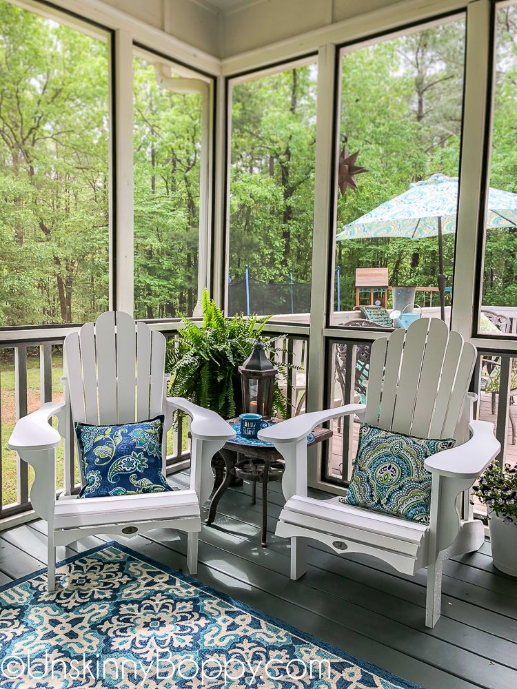 Screenedin Back Porch Makeover {+ a new swing bed