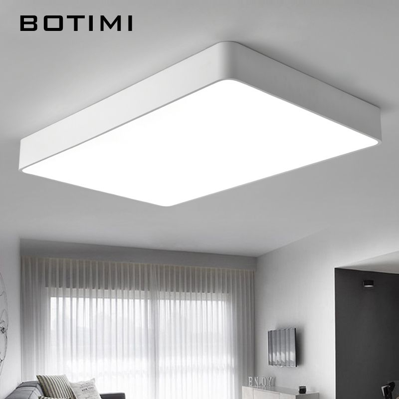 Botimi Modern Led Ceiling Lights Black White Square Office Light With Dimming Remote Home Lighting Modern Led Ceiling Lights Ceiling Lights Led Ceiling Lights