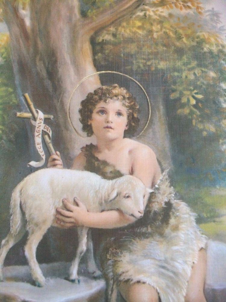 Jesus child lamb linen print cromo italy ready to frame 8 x 10 jesus child lamb linen print cromo italy ready to frame 8 x 10 christian picture negle Gallery