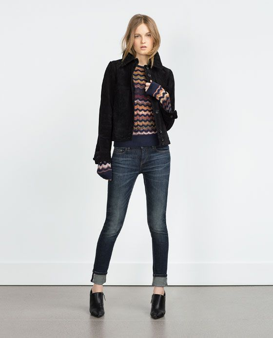 Womens skinny jeans with turn ups