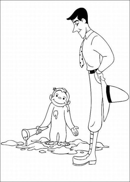 curious george coloring pages - Coloring Pages Curious George