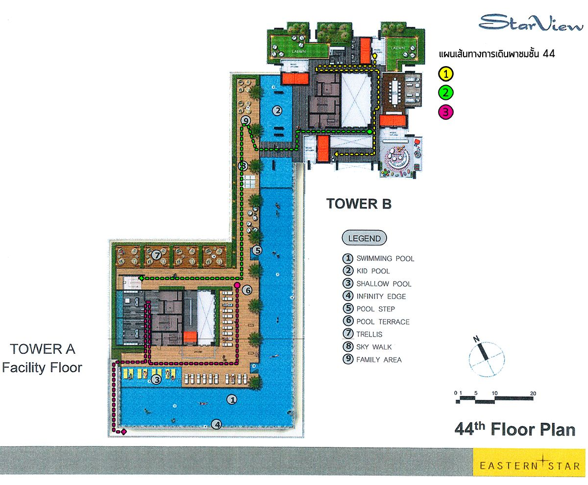 44th Floor All Common Area And Swimming Pool Layout Swimming Pools Kid Pool Infinity Edge Pool