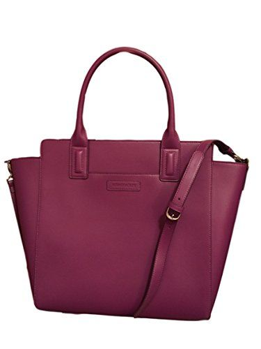 464308e1a5 Gorgeous Vera Bradley Large Handbag Tote in Plum Faux Leather Collection