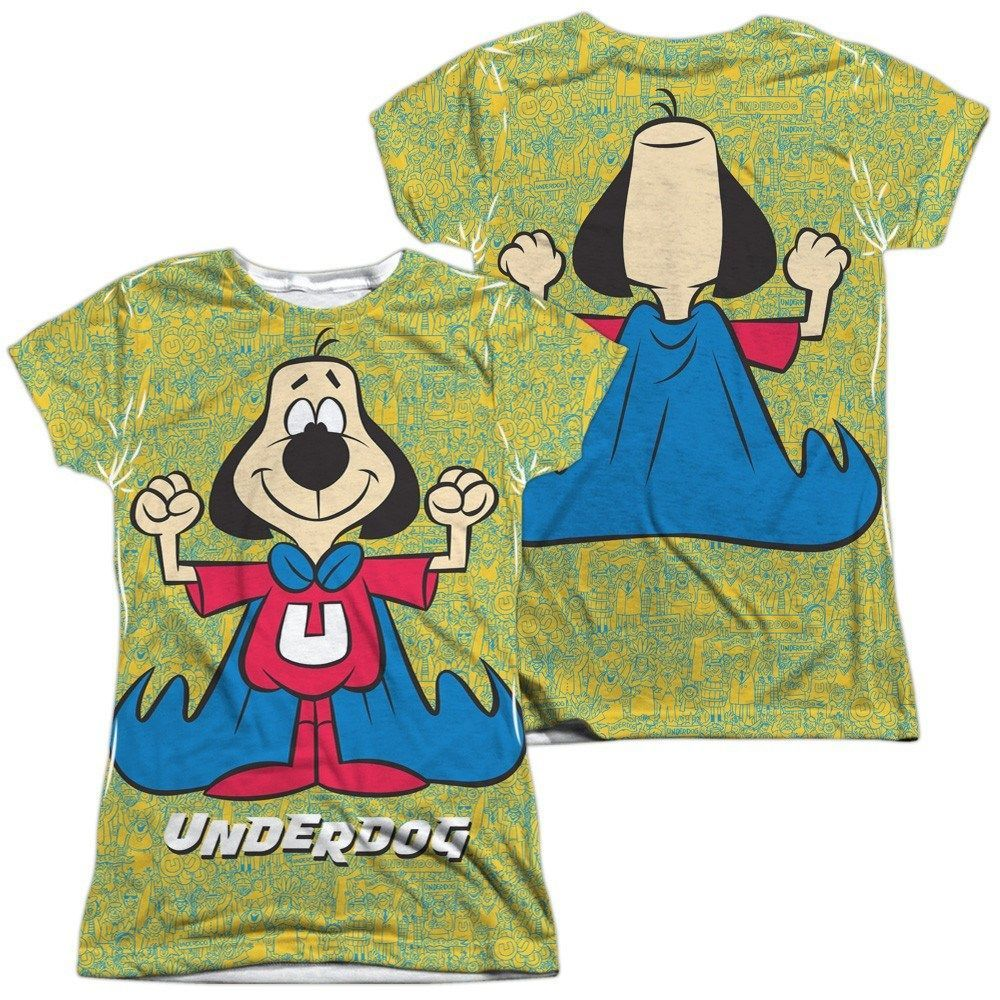zz LADIES - UNDERDOG FLEXING (FRONT BACK PRINT)