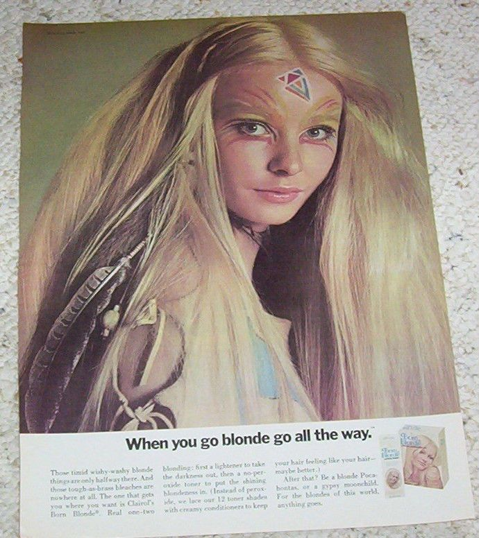 1971 Ad Page Clairol Born Blonde Hair Color Sexy Girl Vintage Old