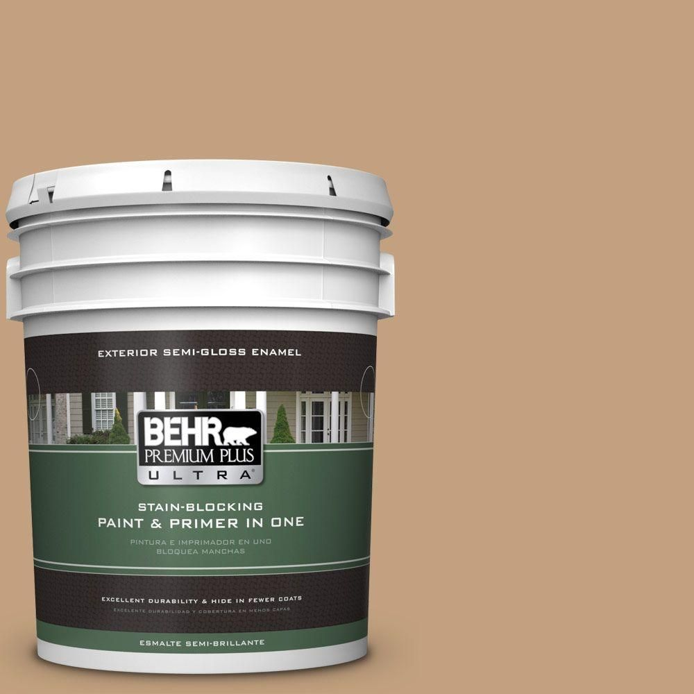 Behr Ultra 5 Gal S280 4 Real Cork Semi Gloss Enamel Exterior Paint And Primer In One 585405 Behr Interior Paint Exterior Paint