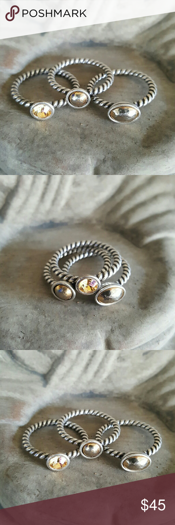 Rings Stacking BOHO Hippie Beautiful stacking rings. EITHER Size 6 or 7 not sure. Jewelry Rings