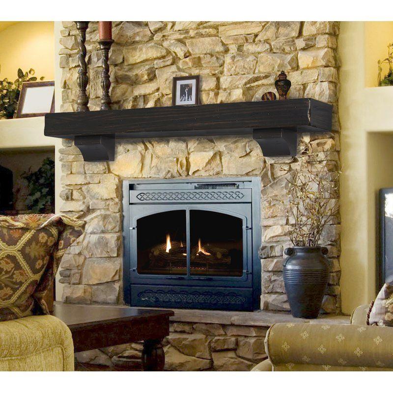 The Shenandoah Fireplace Shelf Mantel Stone Fireplace Mantel