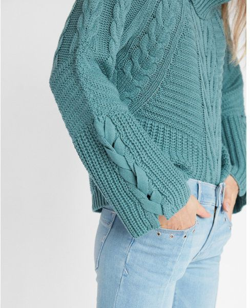 Express Petite Cowl Neck Cable Knit Sweater Products Sweaters Cable Knit Sweaters Cable Knit
