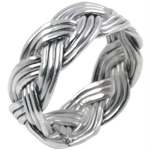 Large Woven Braid - Sterling Silver Ring Old Glory. $28.00