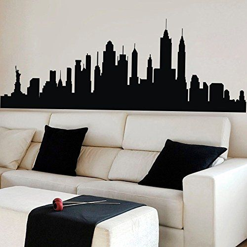 MairGwall New York City Skyline Silhouette Wall Decal Custom Vinyl - Custom vinyl stickers nyc