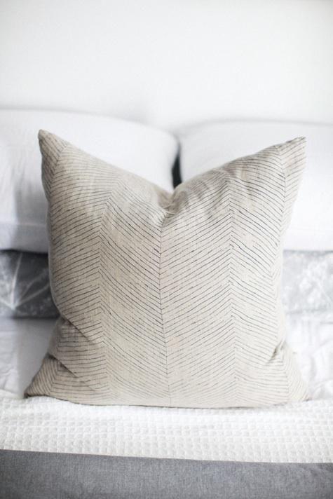 Elizabeth Siegan | screenprinted herringbone cushion