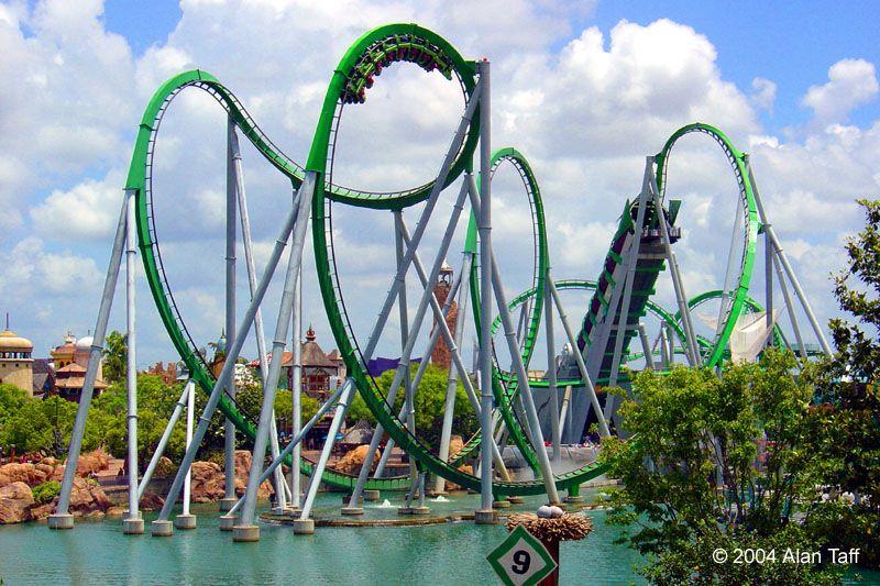 The Hulk Roller Coaster At Universal Studio S Islands Of Adventure Island Of Adventure Orlando Islands Of Adventure Universal Islands Of Adventure