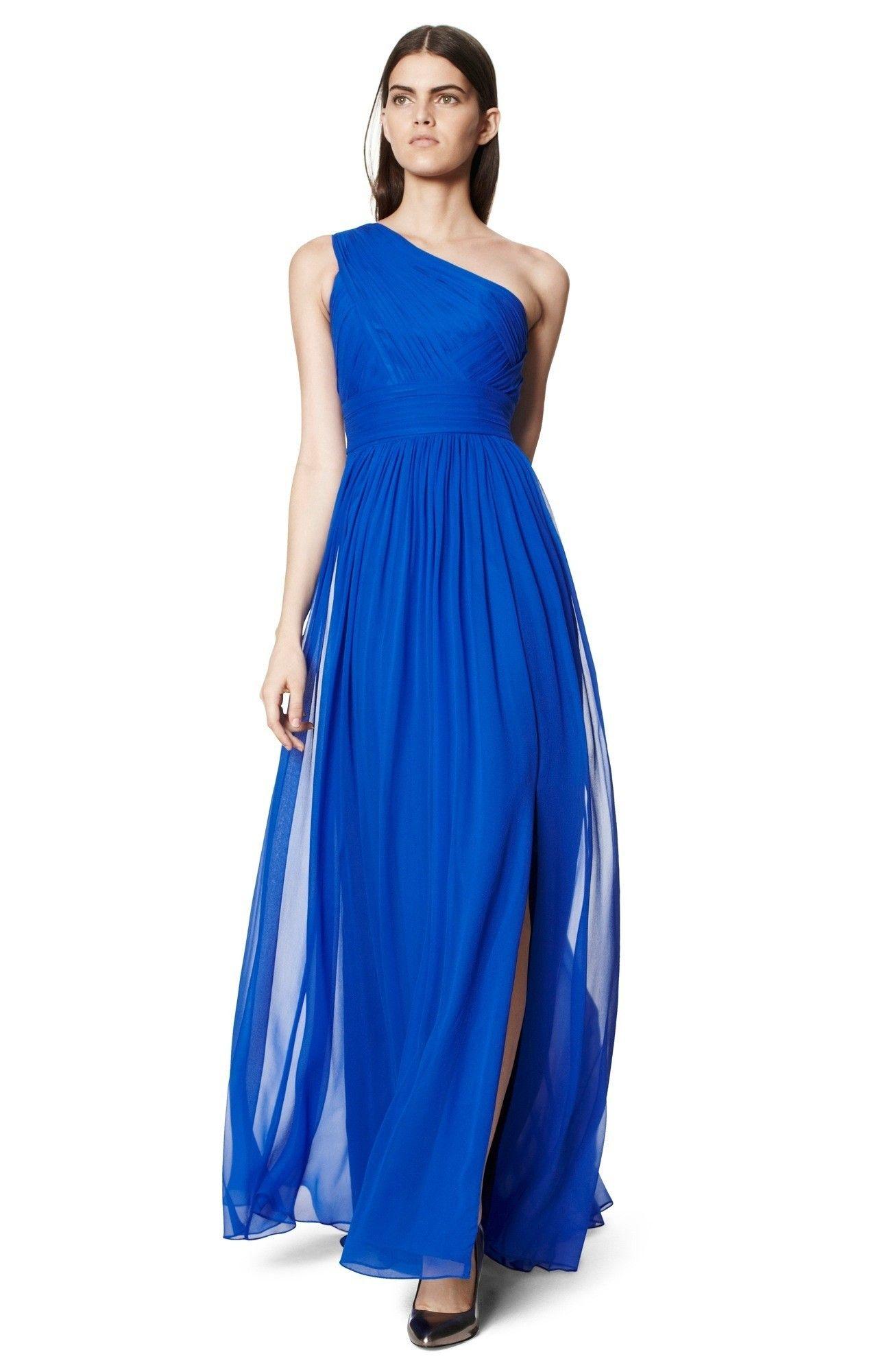 Vestido azul adolfo dominguez