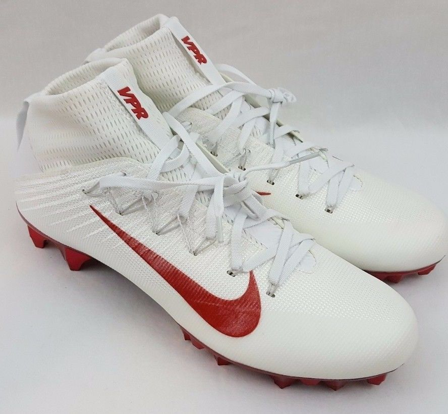 60a9112c41bb Nike Vapor Untouchable 2 TB Jewels Size 11 Football Cleats White Red  835831-160 #Nike #football