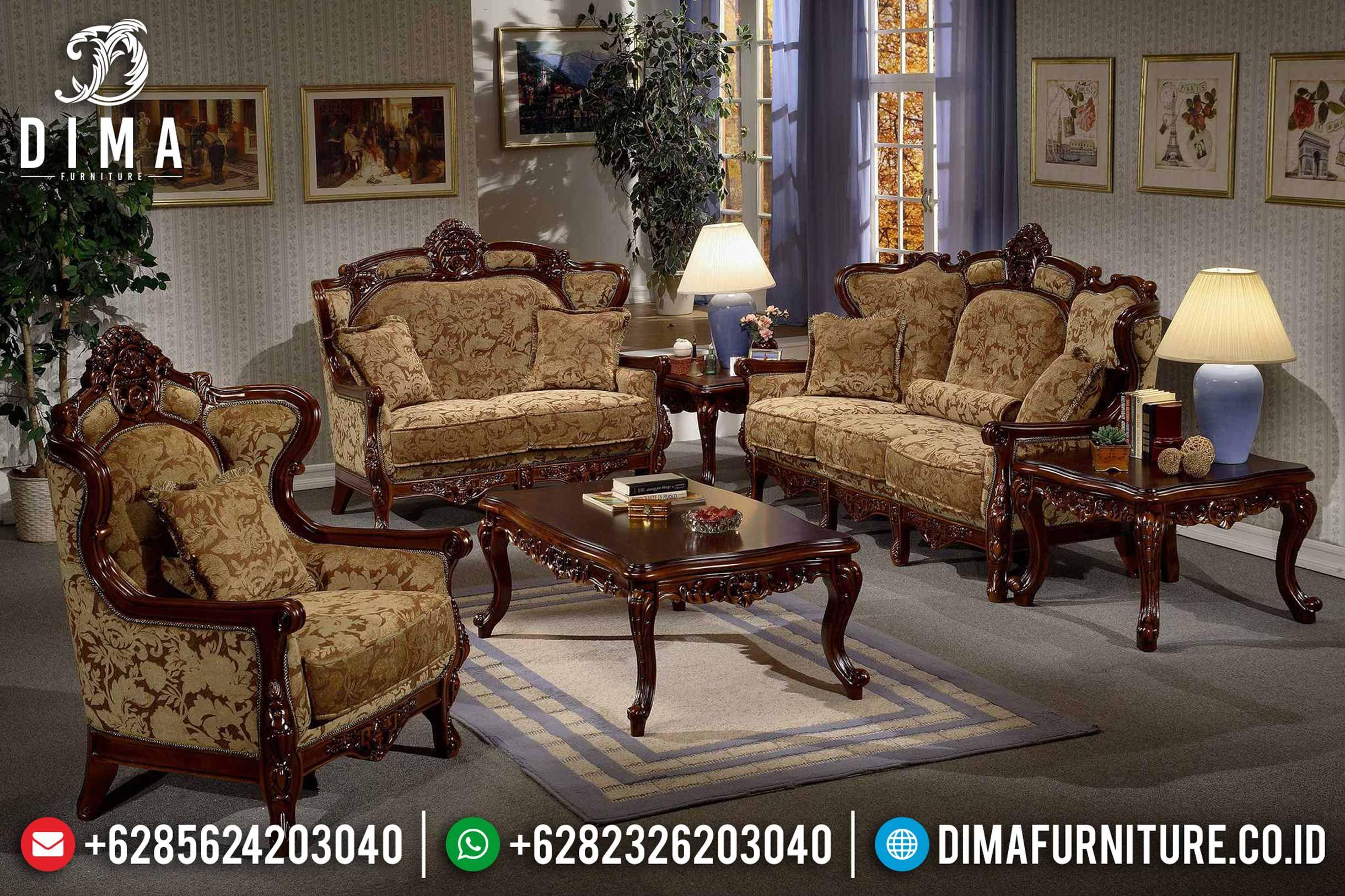 25 Pilihan Sofa Tamu Jepara Terbaik Model Mewah Dan Minimalis Dima Furniture Jepara In 2020 Living Room Sets Furniture Sofa Design Wooden Sofa Set