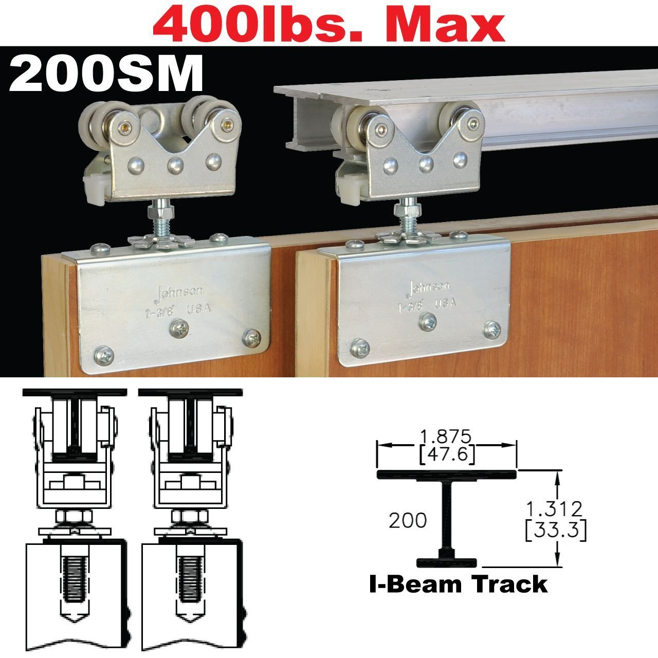 Picture Of 200sm Side Mount Sliding Door Hardware Sliding Door Hardware Sliding Doors Folding Glass Doors