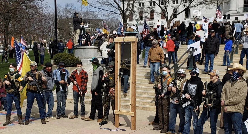 2 Heavily Armed Kids With A Poorly Constructed Guillotine At The Madison Protest Today Wisconsin Protests Today Madison Wausau