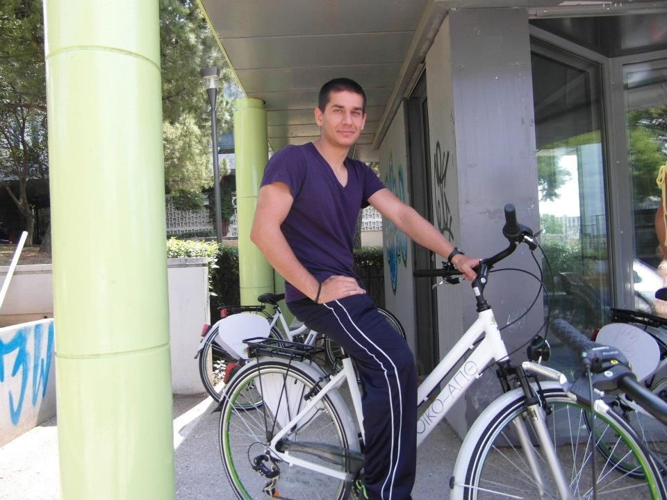 Aristotle University Bike Sharing System Taking Off Bike