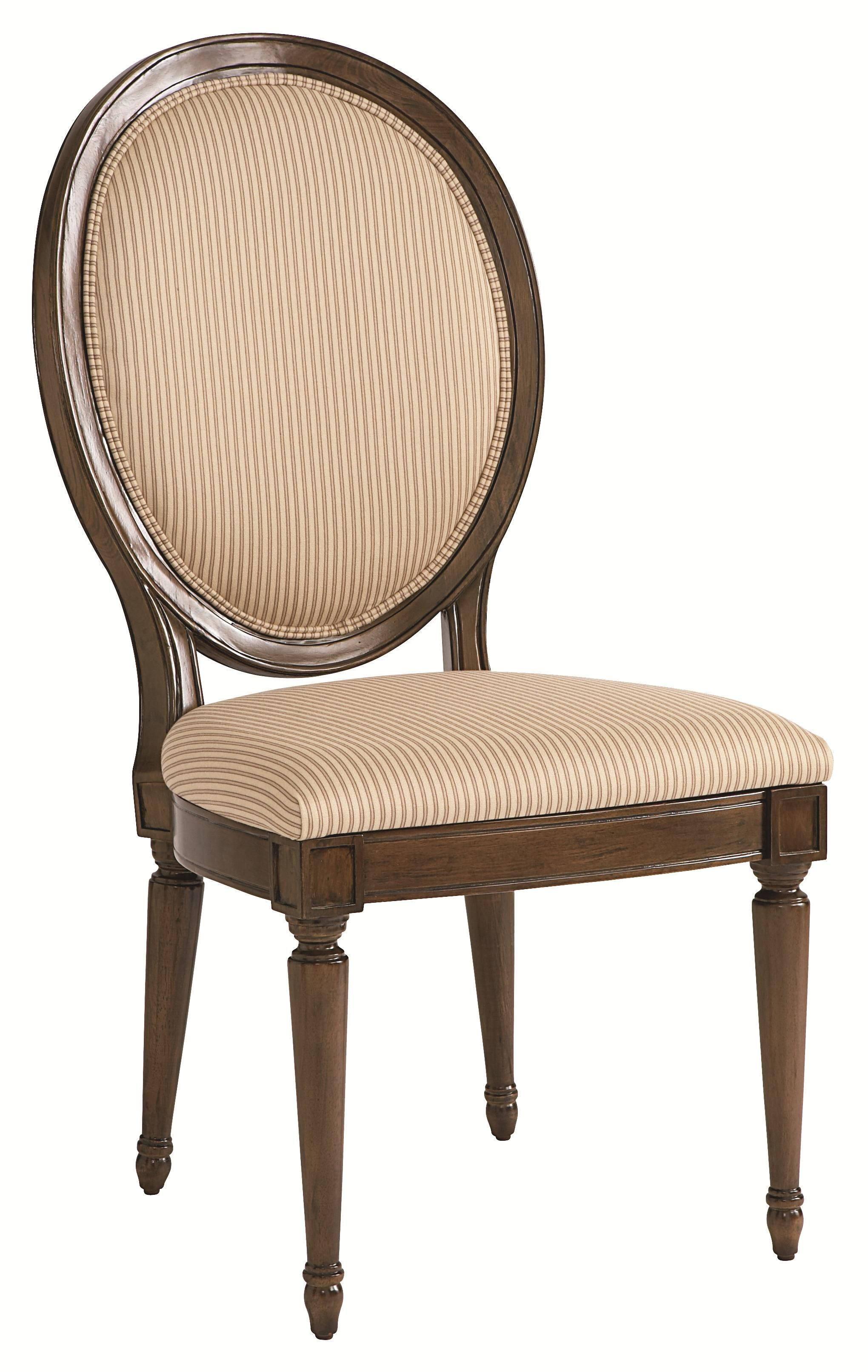 Meadowbrook Manor Oval Back Side Chair For Elegant Dining Room Table Sets By HGTV Home Furniture