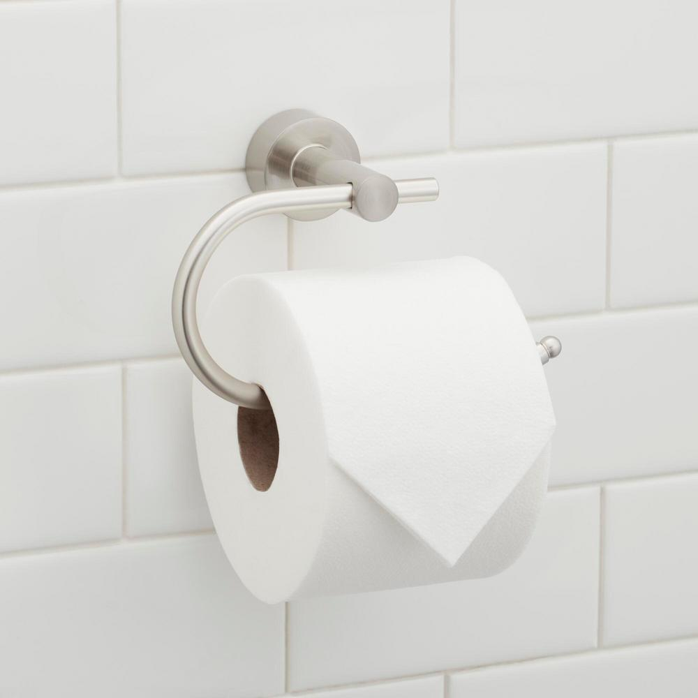 21 Glacier Bay Innburg Single Post Toilet Paper Holder In Brushed Nickel Bd631100bn The Home Depot In 2020 Toilet Paper Holder Toilet Paper Toilet