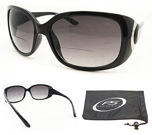 91724ccad6c Sexy Bifocal Sunglasses 200 for Women with Classy Black Frames and Chrome  Accent Free Microfiber Cleaning Case Included -- Check out this great  product.