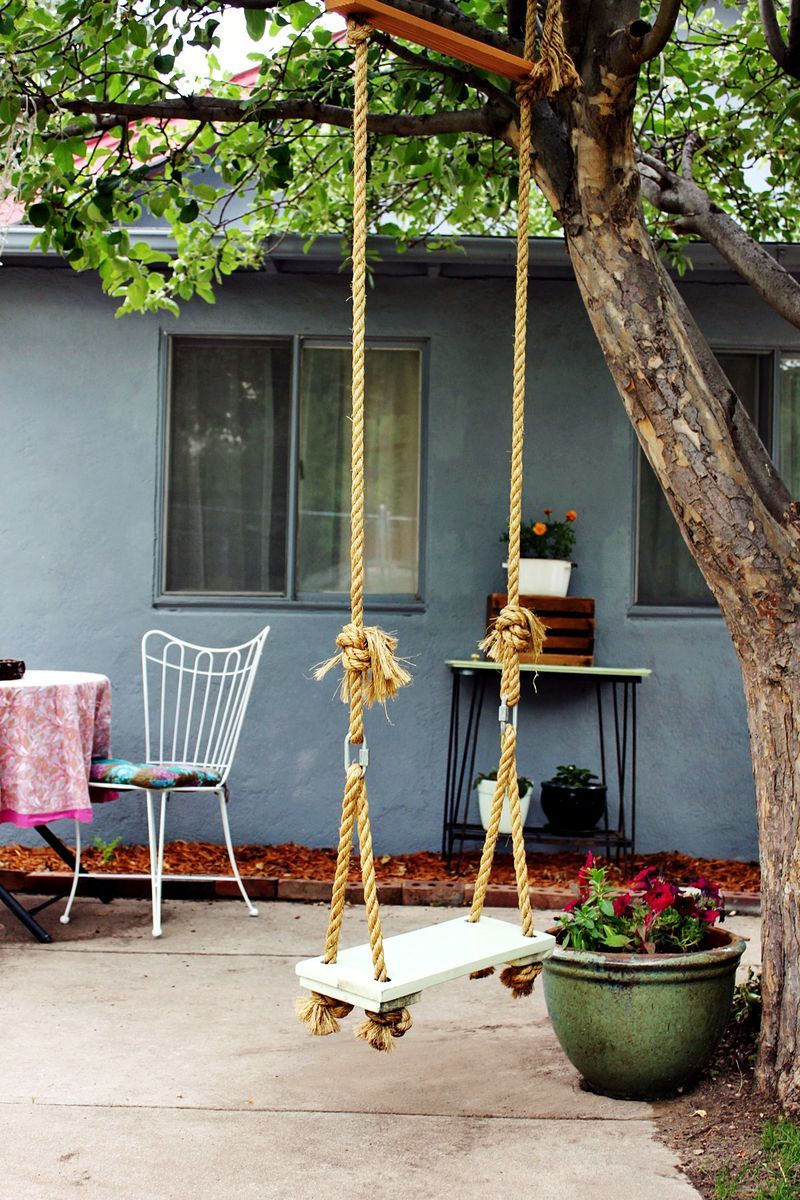 make your own tree swing on a beautiful mess diy pinterest