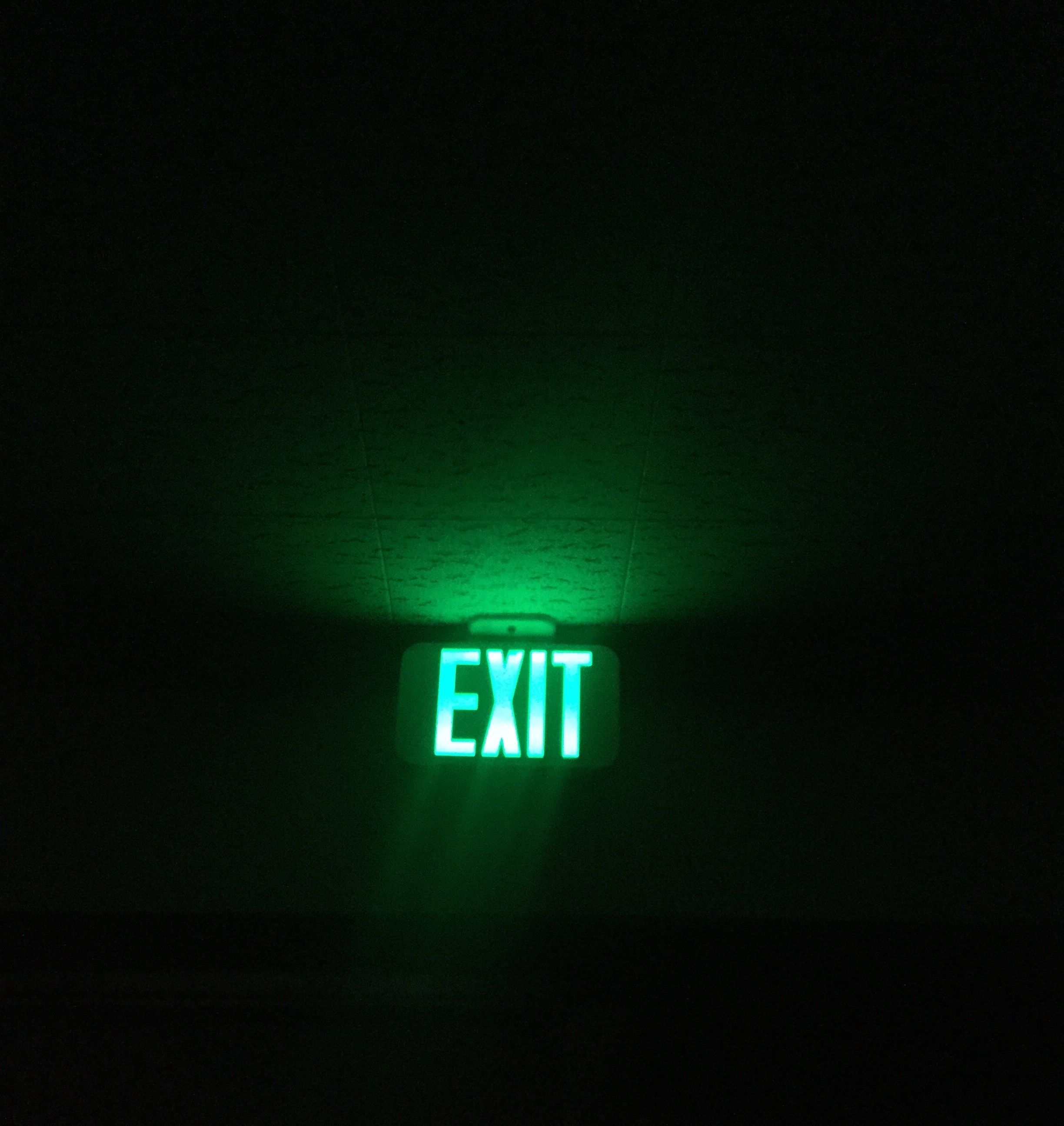 Fun Fact I Found This Green Aesthetic Tumblr Grunge Dark Exit Sign In An Old Church Yes That Was Dark Green Aesthetic Green Aesthetic Green Aesthetic Tumblr