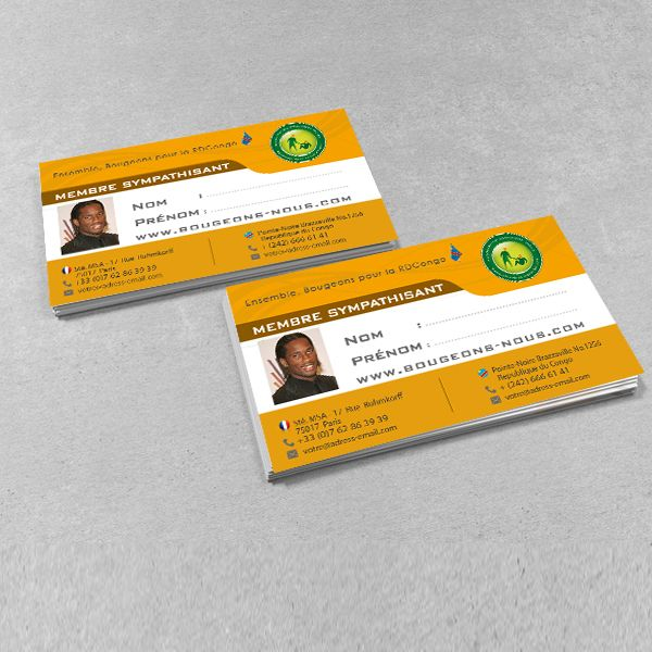 Kainet Communication Creation Carte De Visite Pour Association Bougeons Nous