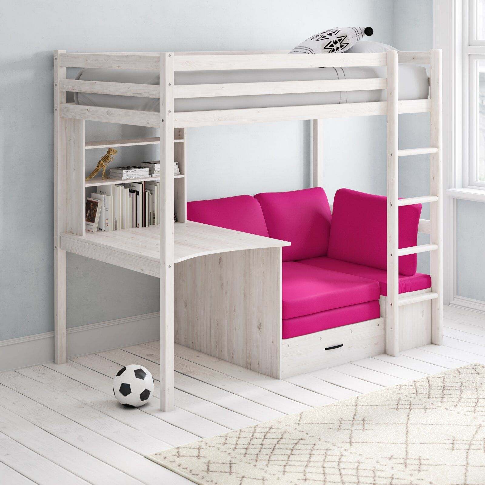 Robin European Single Futon Bunk Bed Flexa Colour Fabric