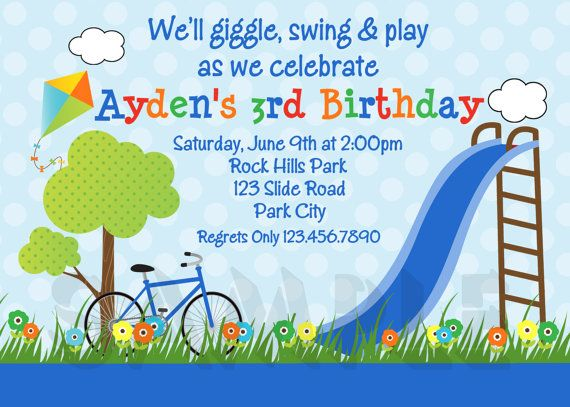 Playground park birthday invitation park by thetrendybutterfly playground park birthday invitation park by thetrendybutterfly filmwisefo Gallery