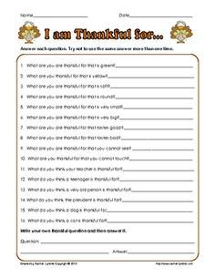 thanksgiving worksheets for middle school - Google Search ...