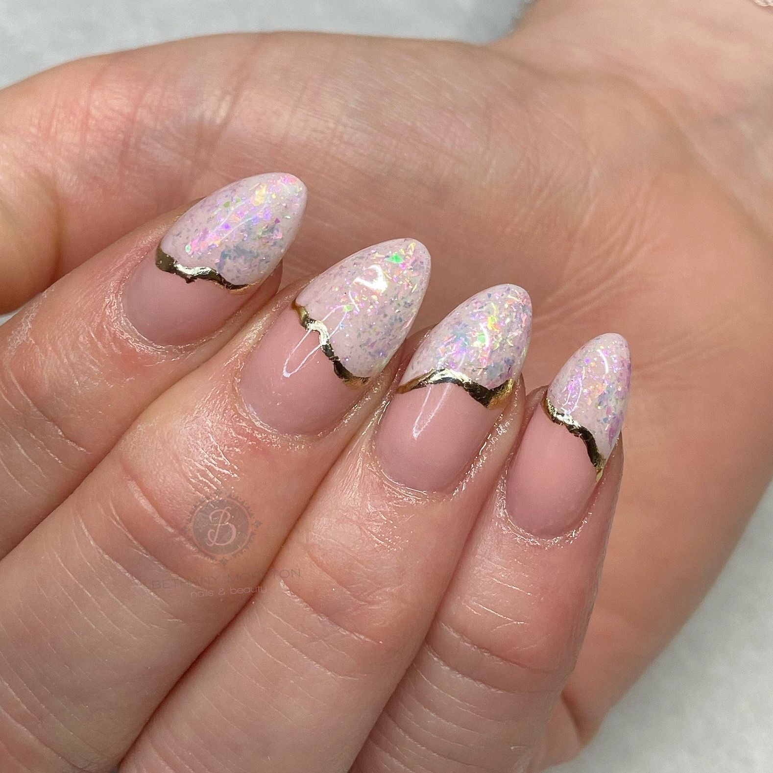 Opalnägel -  Milchrosa Opalnägel     #nails #thegelbottle #biab #nailtech #nailsbybeff   - #opalnagel