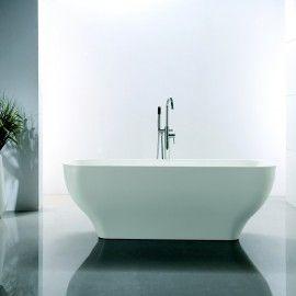 Baignoire lot Ovale 170x70 cm Acrylique Blanc Edge
