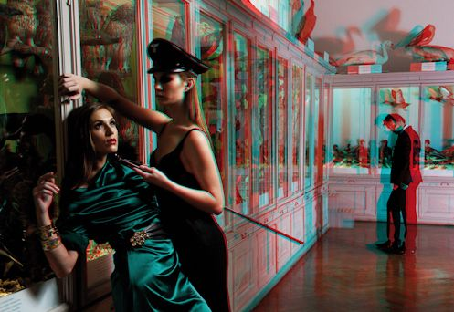 A night at the museum fashion photography story idea and inspiration.