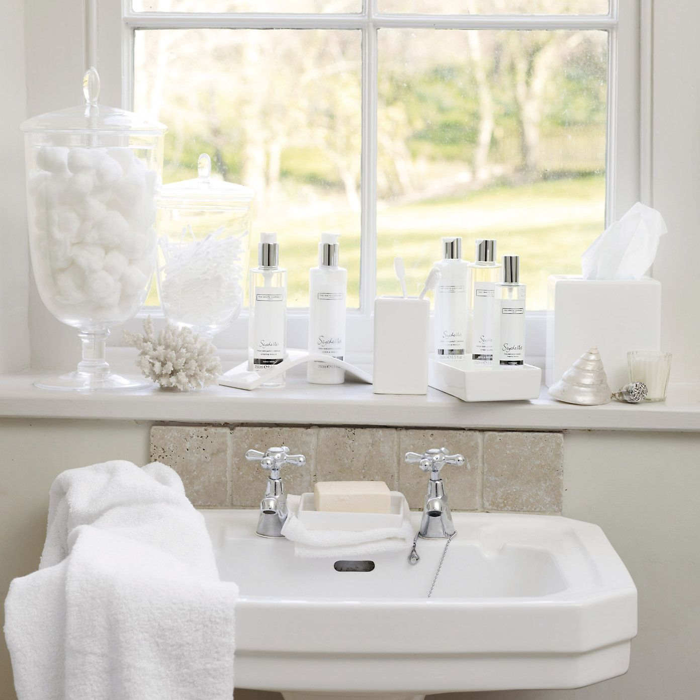 Romantic white bathroom - The White Company Dream bathroom!! | Home ...