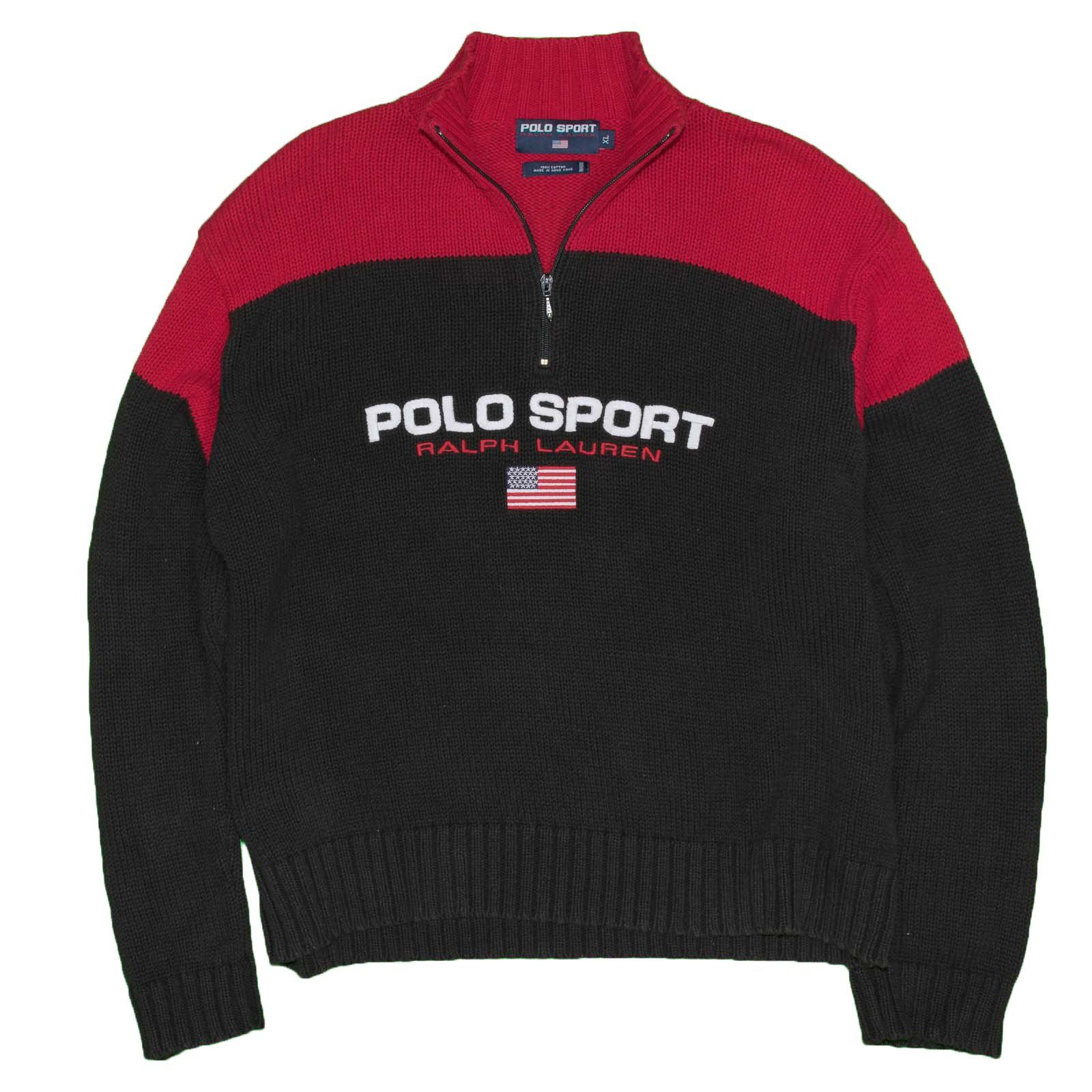 Polo Sport Ralph Lauren Men's Sweater XL Vintage 1/4 Zip