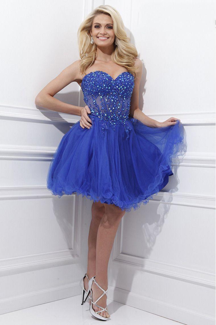 Vestidos azules cortos para 15