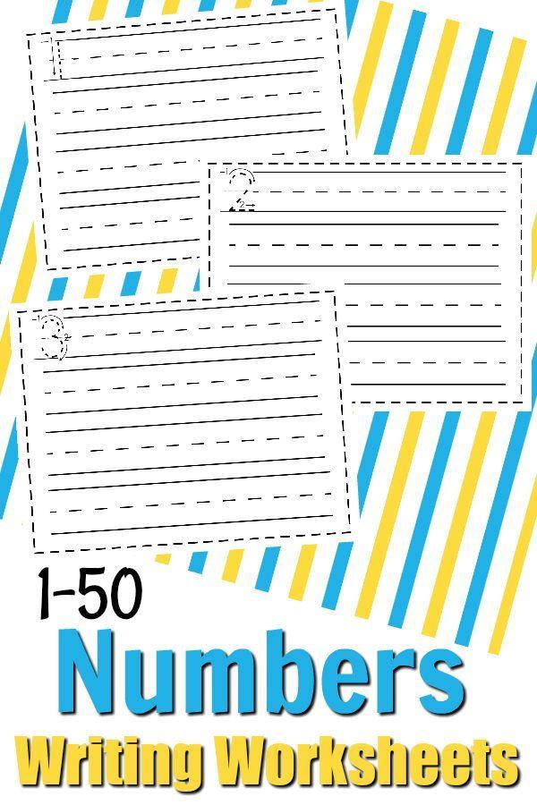 Free Math Printable: Numbers 1-50 Writing Math Worksheets | Free ...