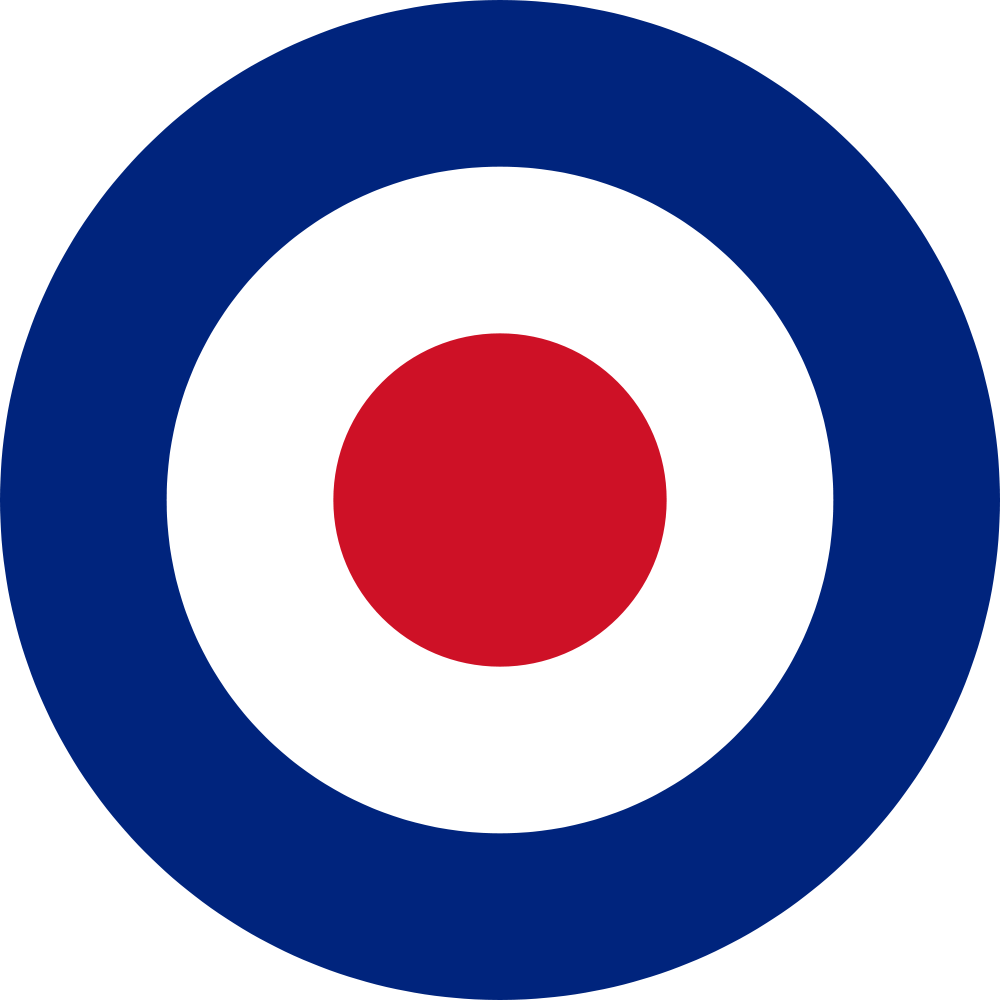 United Kingdom Royal Air Force Roundel. I love the style of