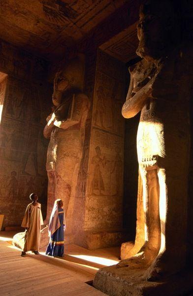 Osiris, Egyptian god of the afterlife, Abu Simbel Temple, Egypt