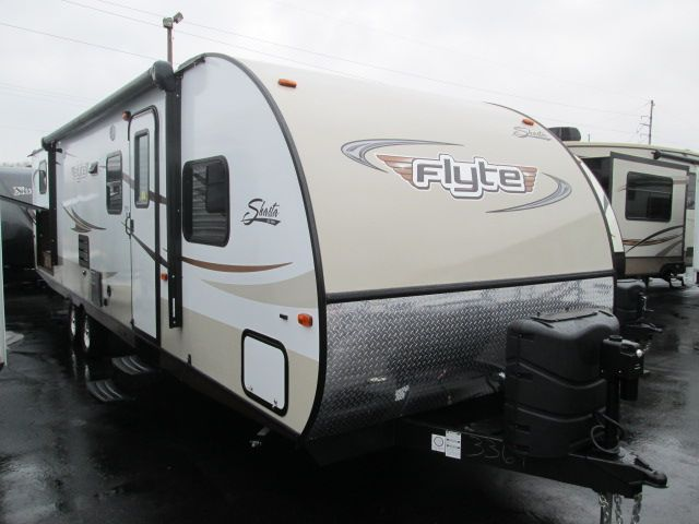 New Travel Trailer 2014 Shasta Flyte 3150k Bunk Beds And Outside