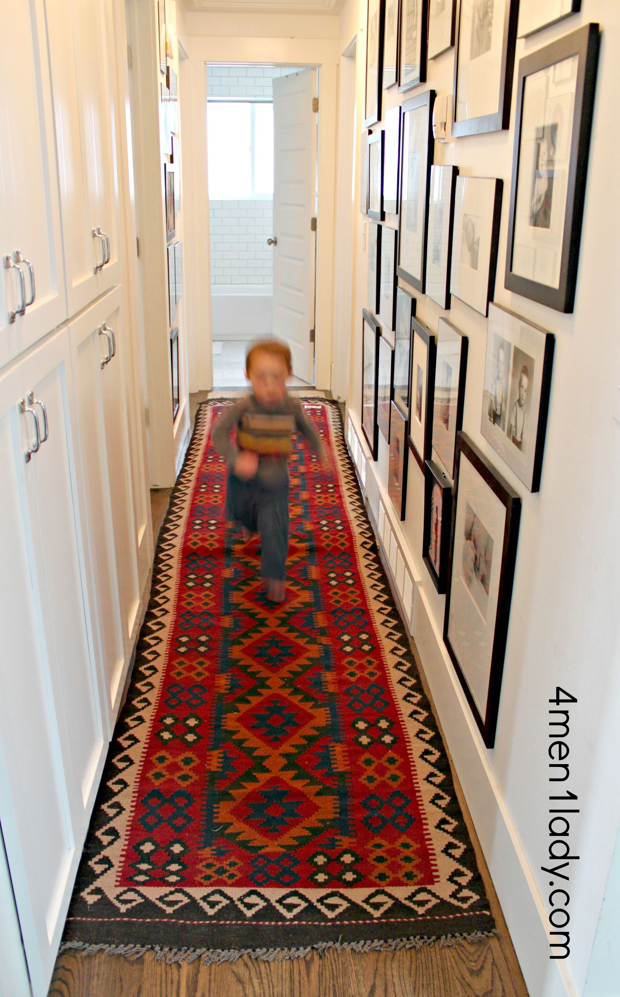 Displaying Kids Art And A Hallway Addition 4 Men 1 Lady Art Display Kids Trendy Wall Decor Hallway Decorating