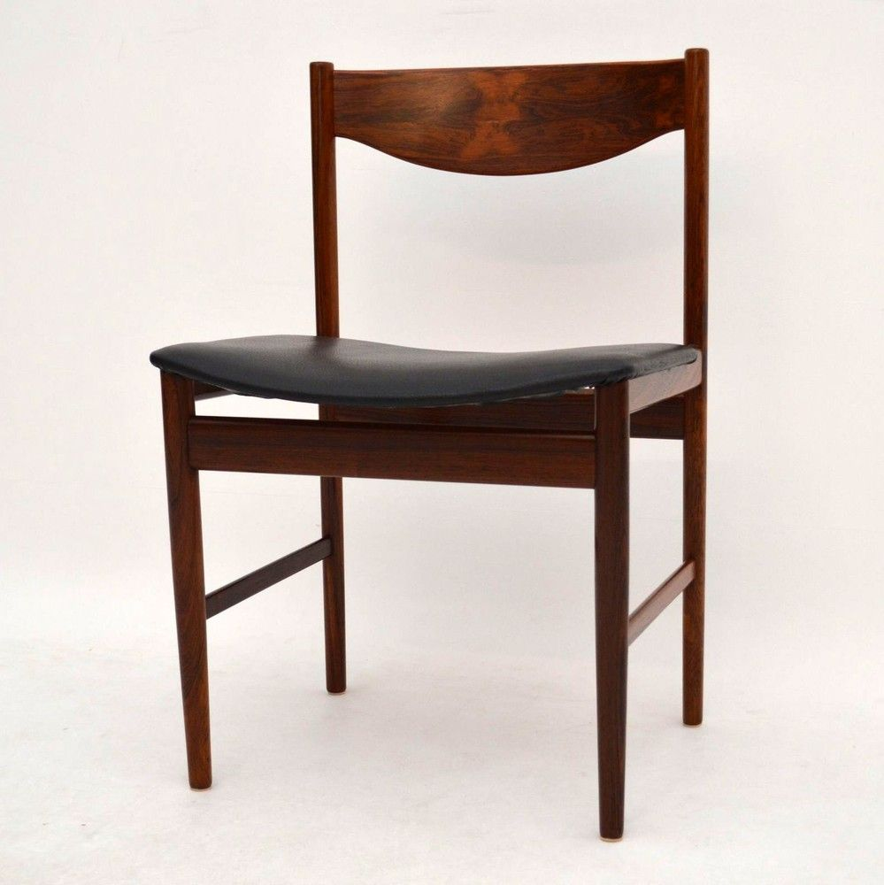Retro Rosewood Dining Tabke Chairs For Sale London IB Kofod Larsen