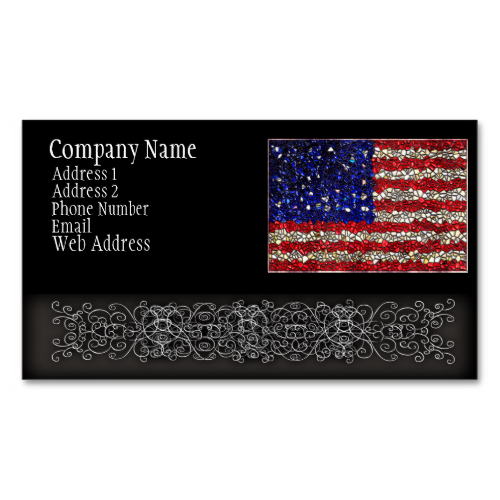 American flag mosaic business card templates business cards on american flag mosaic business card templates reheart Images