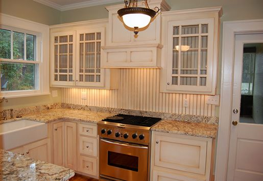 Elegant Beadboard Backsplash    Antiqued Look Design