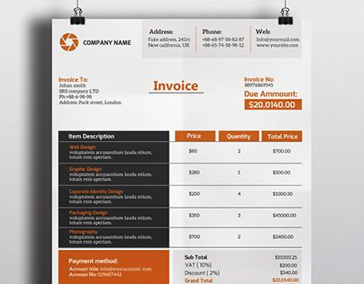"""Check out new work on my Behance portfolio """"Invoice"""