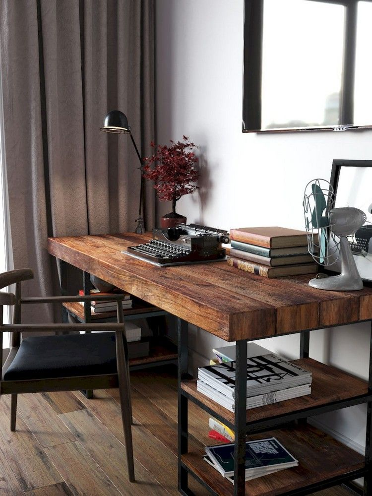 60 Admirable Workspace Bedroom Ideas Decor Reclaimed Wood Desk