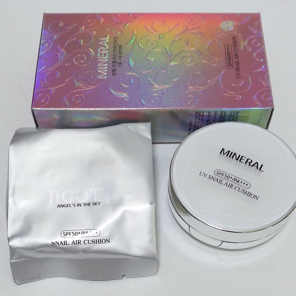 1+1 Brand New Product UV Mineral Snail Air Cushion Pressed