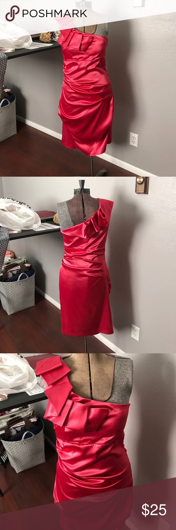 Gorgeous dress my posh picks pinterest pink satin dress